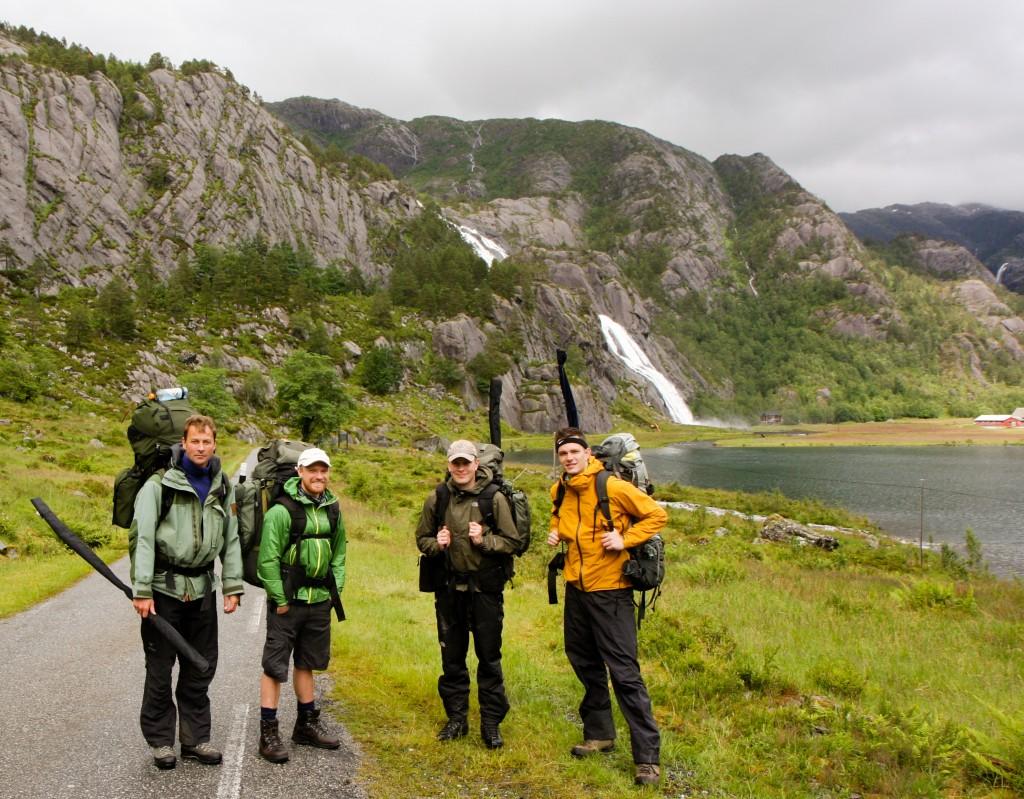 Ålfotere. F.v.: Even, Øystein, Toral og Egil Andreas